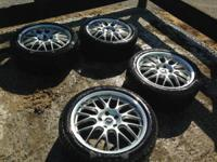 Up for sale is a collection of 4 Enkei Lusso wheels.