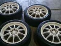 Hey I am selling my set of Enkei wheels and tires. They