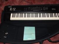 Heres a ENSONIQ KS-32 expert keyboard. Launched in 1992
