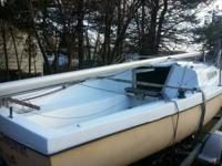 21 foot sailboat, at endeavor 21. includes an EZ Roller