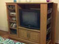 59x50x19, TV space is 32x30.5x17.5. Glass cabinet on