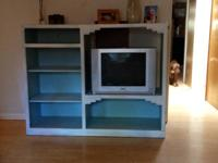Bueautful distressed entertainment center made out of