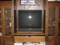 Entertainment Center - solid oak, Amish handmade: