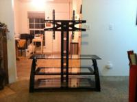 3 tier glass entertainment center for flat screen, have