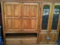 ENTERTAINMENT CENTER FOR SALE 100.00 OBO. PLEASE CALL