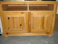 Oak entertainment center. In great shape. Has two doors