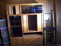 Entertainment Center VERY nice and heavy sliding doors