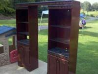 This is a large wall entertainment center. Has 2 towers