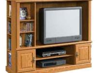 Entertainment center nice no scratches nice designs on