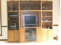 Beautiful entertainment center in excellent shape.