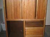 "Entertainment Center, 42""w x 57""h x 20""d, for up to a"