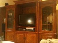 EXCELLENT CONDITION  please text! wood entertainment