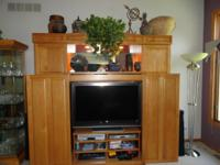 Ello Entertainment Center with Remote Controlled