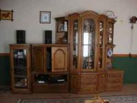 10 Piece German Schrunk (entertainment center). Pieces