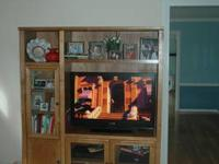 Wall unit for sale, space for flat screen with
