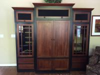 Ethan Allen, craftsman style cherry and black