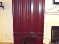 Armoire/Entertainment Center. Cherry finish. Good