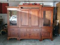 Beautiful, large solid wood (cherrywood?) entertainment