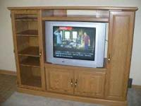 "TV cabinet measures 68""W x 20""D x 52""H with a TV"