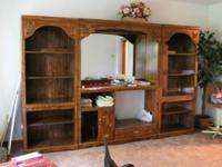 This a very good Entertainment Center with 2 separate