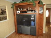 Maple Entertainment Three piece Cabinet...Holds up to a