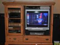 Ducks Unlimited TV/Stereo Entertainment Unit. Solid