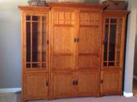 Gorgeous Mission Style Entertainment Center. Comes in 3