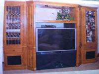 PRICE REDUCED!!! Beautiful solid wood, pecan funish,