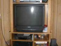 Entertainment TV Cabinet w/1 Drawer and Lower Shelf