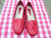 ENZO ANGIOLINI RED LOAFER FLATS ~ STYLE: LIBERTY SIZE