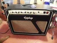 The 30W Epiphone Blues Custom 30 combo guitar amp takes