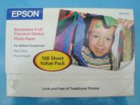 Unused, unopened Epson Premium Photo Paper GLOSSY (4x6