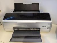 "Excellent condition, with manual. Bought a 17"" printer,"