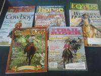 Variety of horse mags from 2012-2015, Lynn Palm Western