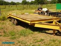 27 foot Zieman beaver tail equipment trailer with