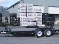 Carry-On 7x16 Equipment Trailer 10K GVW: 9990 LBS EVWR: