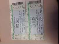 Two tickets to tomorrow's show. $150 for the pair. Area