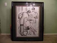I have a signed lithograph by Erik Freyman. It is 5 of