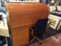 Erik Jorgensen roll top teak wood workdesk in excellent