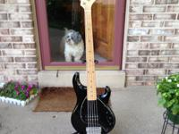 Ernie Ball 5 String Sting Ray Bass - Used - Black with
