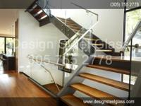ESCALERA DE VIDRIO - GLASS STAIR, GLASS RAILING,