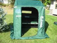 Portable fish house, Hunter green Eskimo QuickFlip II