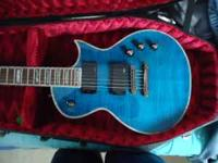ESP LTD EC 1000, excellent condition rare blue. Comes