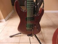 Nice black cherry finish ESP guitar sounds good in good