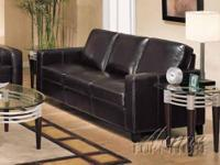 Espresso Bycast Leather Match Sofa Set Item #: 05740