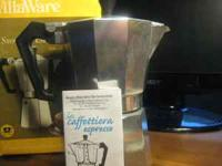 New, in box with a manual Stove Top Espresso Maker. It