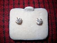 14K Diamond Earrings with 2 sets of jackets Last