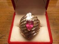 For sale is a fine estate diamond and ruby 14k solid