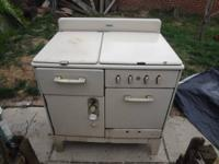 I am selling a vintage Estate gas stove.  The stove is