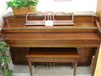 Clean Estey Spinet Piano and Bench. Clean crisp tone!